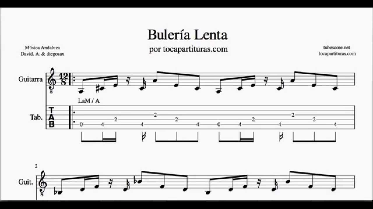 Buler a lenta tablatura de guitarra acompa amiento en tabs for Partituras guitarra clasica
