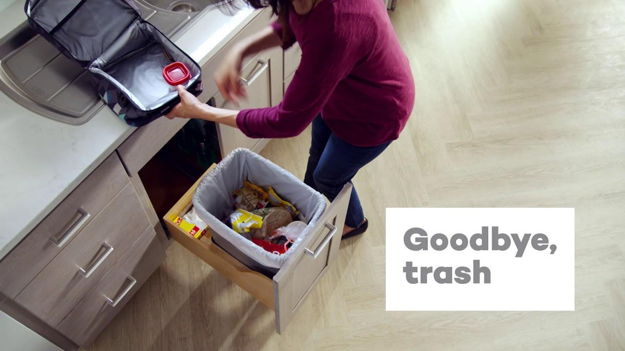 KraftMaid® Under Sink Single Wastebasket