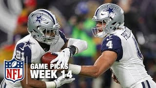 Game Picks in 60 Seconds (Week 14) ⏱🏈 | NFL NOW