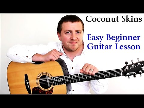Coconut Skins - Damien Rice - Easy Beginners Guitar Lesson - How To Play - Drue James