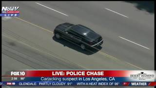 FULL Police Chase In Los Angeles Ends After Suspect Crashes Car And Tries To Run From LAPD FNN