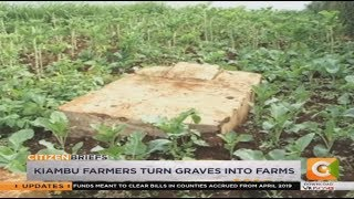 Kiambu farmers turn graves into farms