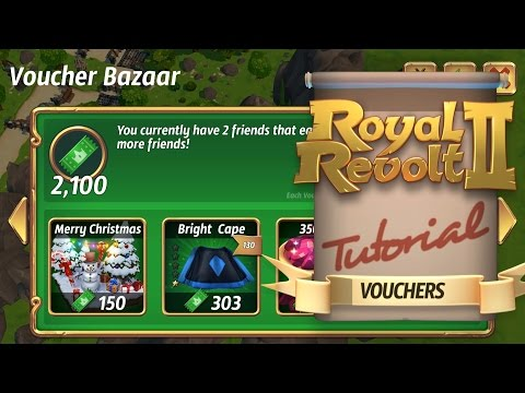 Royal Revolt 2 - Earning Free Rewards With Vouchers!