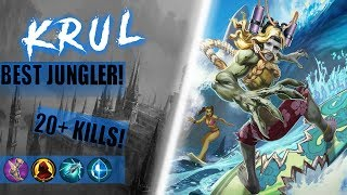 Best Jungler! - Crystal Power Krul! 20+ KIlls! - Vainglory 5v5