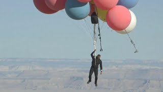 David Blaine Jumps From Balloons 20,000 Feet in the Air