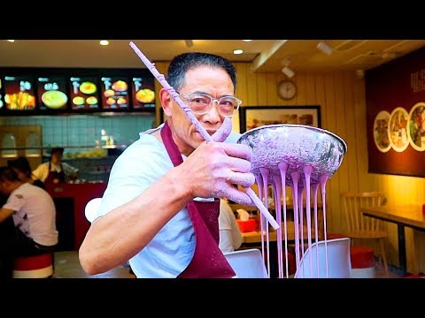 Chinese Street Food - PURPLE NOODLES | CRAZY Street Food in Chongqing - BEST Street Food in China