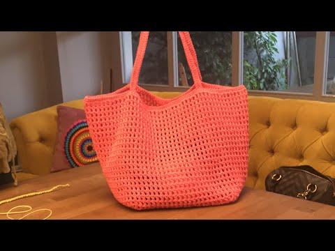 Herkesin tarifini aradığı Kağıt ipten Yazlık Kol Çanta Yapımı #HasırÇanta #crochetbag #knittingbag