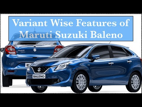 Maruti Suzuki Baleno Sigma vs delta vs zeta vs alpha Interior Exterior Features | Variants Explained