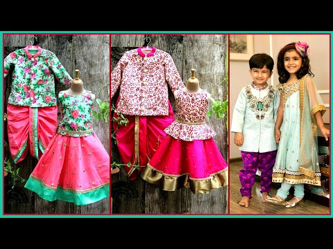 Party wear Dresses Lehenga Choli Crop Top Anarkali Dhoti Kurta Pajama Designs for Kids Boy Girl|FSHC