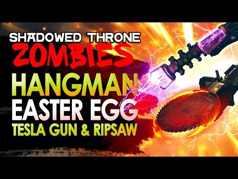 The Shadowed Throne HANGMAN Easter Egg Solution / Tesla Gun & Ripsaw Wonder Weapons WW2 ZOMBIES