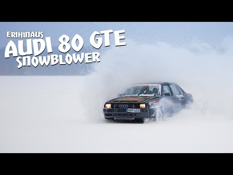 Audi 80 widebody turbo quattro on ice track