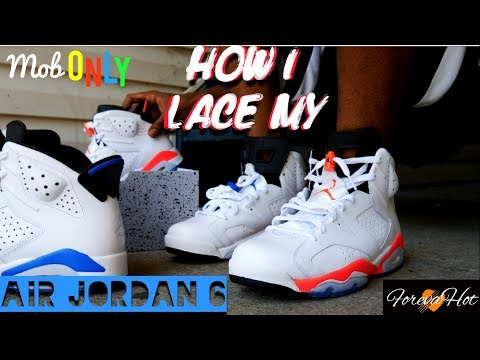 f8612c4c286 How I lace My Air Jordan 6 - YouTube