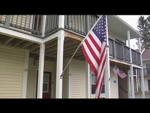 Flag dispute at Easthampton Housing Authority property
