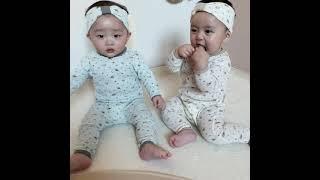 아기실내복 신생아 옷 실내복 유아실내복 아일렛세트 - …