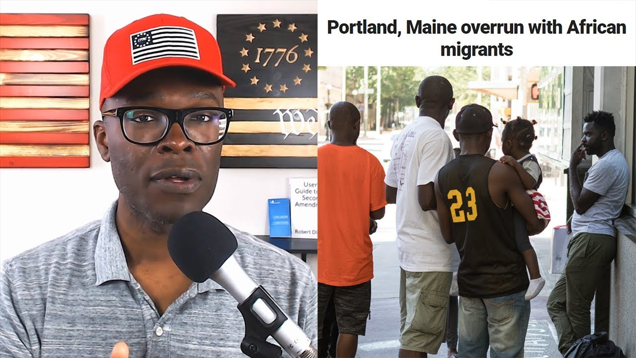 Anthony Brian Logan - How Did AFRICAN Illegal Immigrants Take Over Portland Maine?