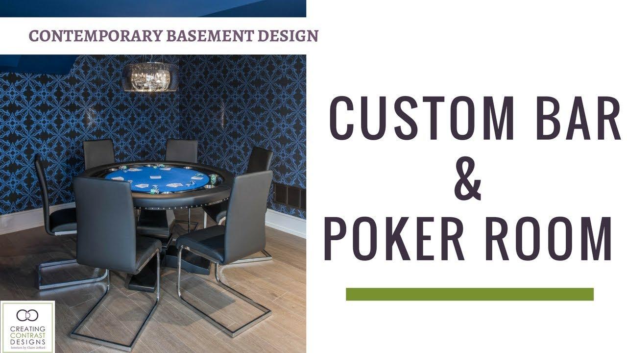 Basement Bar And Poker Room Design Youtube