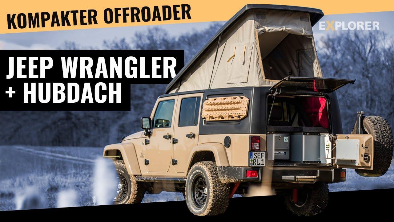 Jeep Wrangler Soft Top >> Gazell' Aufstelldach Jeep Wrangler JK Test - YouTube