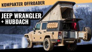 Jeep Wrangler JK mit Gazell' Aufstelldach im Test – So viel Platz zum campen!