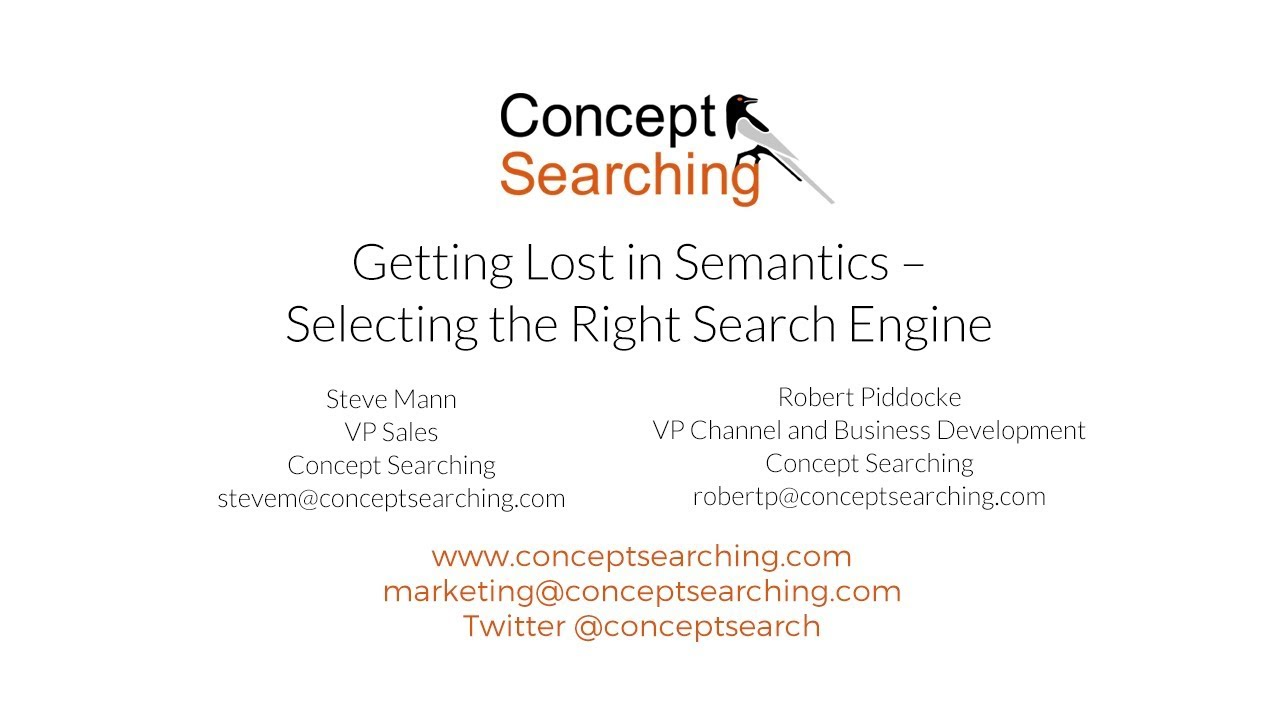 getting lost in semantics selecting the right search engine youtube