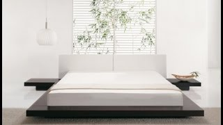 Beliani Wooden Bed Japan Style - Super King Size - With Side Tables - Zen - Eng