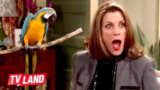 Parrot Says 'F*ck You' to Wendie Malick | Bloopers Part 1 | Hot in Cleveland | TV Land