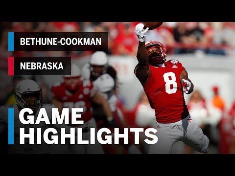 Highlights: Nebraska Cornhuskers vs. Bethune-Cookman Wildcats   Big Ten Football
