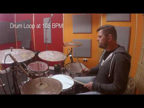 105bpm - Simple Straight Beat - LIVE Drum Track/Loop/Metronome