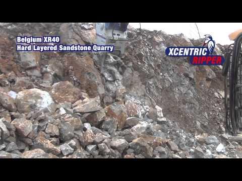 Xcentric Ripper XR40 Excavating Sand Stone Quarry (Belgium), www.SAES.nl