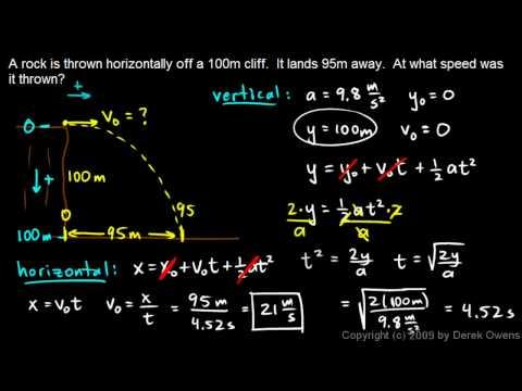 Physics 3.5.4a - Projectile Practice Problem 1