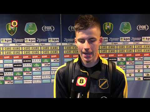 Luka Ilic na eerste goal voor NAC: 'Ik ben echt heel blij nu'