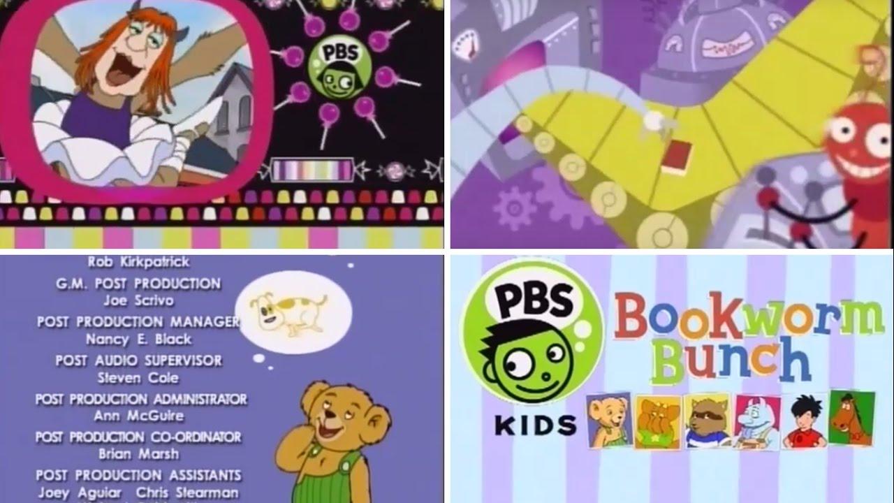 pbs kids bookworm bunch interstitials 2001 youtube