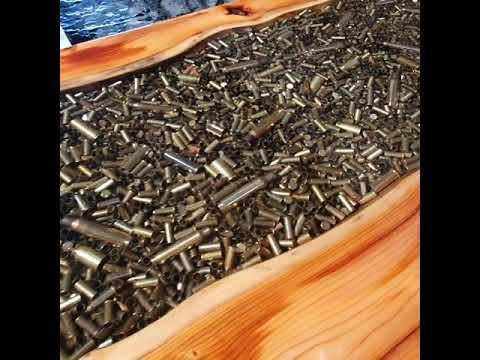 Resin River Bullet Casing Table