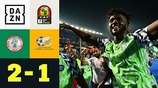 VAR-Debüt und Last-Minute-Treffer: Nigeria - Südafrika 2:1 | Afrika Cup | DAZN Highlights