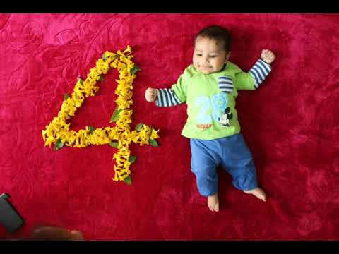 Baby Photoshoot At Home 4 Month Baby Photo Ideas Monthly Youtube