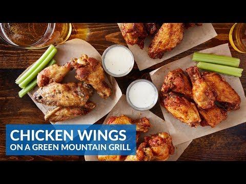 Crispy Chicken Wings On A Green Mountain Grill