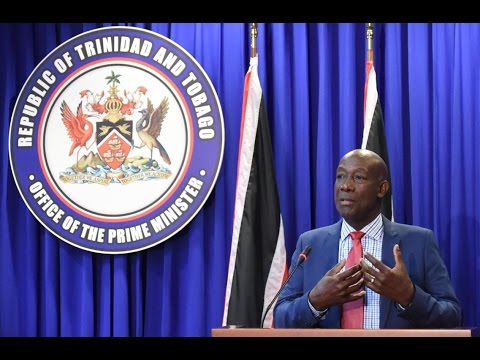 Prime Minister Rowley at Post Cabinet Media Briefing (Thursday 20th October 2016)