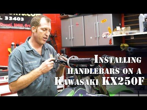 Powersports of Palm Beach — Installing handlebars on a Kawasaki KX250F