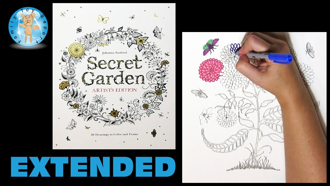 Secret Garden Artists Edition Johanna Basford Adult Coloring Book Mums Extended