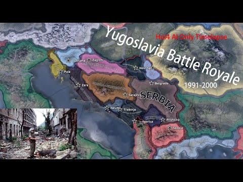 Yugoslavia Battle Royale [Hearts of Iron 4 Timelapes /AI Only] |