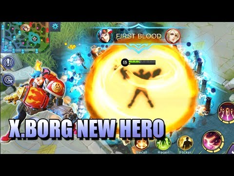 X.BORG NEW HERO IN MOBILE LEGENDS - FULL SKILL EXPLANATION AND BACKGROUND STORY