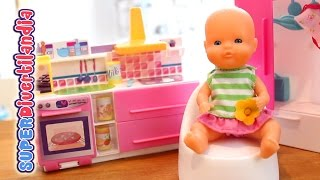 Mini Nenucos Habitaciones - Cocina Y Dormitorio. (baby Doll Kitchen And Room Sets)
