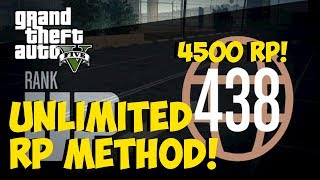 "GTA 5 Online - ""UNLIMITED RP"" 4500 RP/30 Seconds! ""UNLIMITED RP GLITCH/METHOD"" Patch 1.11 (GTA 5)"