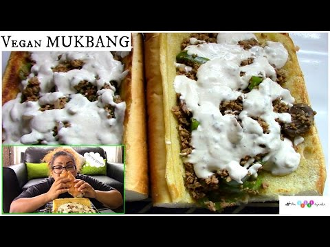 Vegan Philly Cheesesteak MUKBANG
