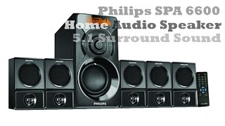 Philips SPA 6600 Home Audio Speaker 5.1 Surround Sound | Bass Pumping Station | 6000 Watt PMPO