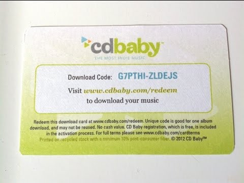 CD Baby Download Card Walkthrough - How to Redeem a CD Baby Download Card - Andrew Plait