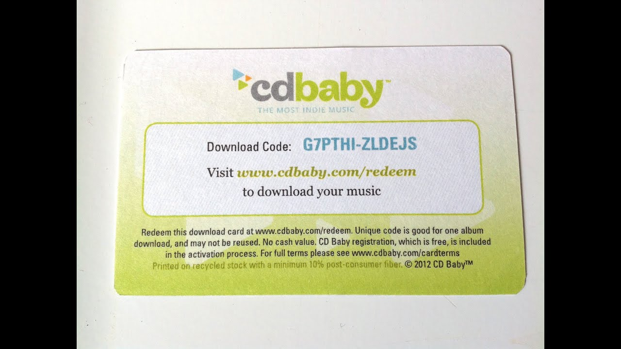 Cd baby download card walkthrough how to redeem a cd baby.