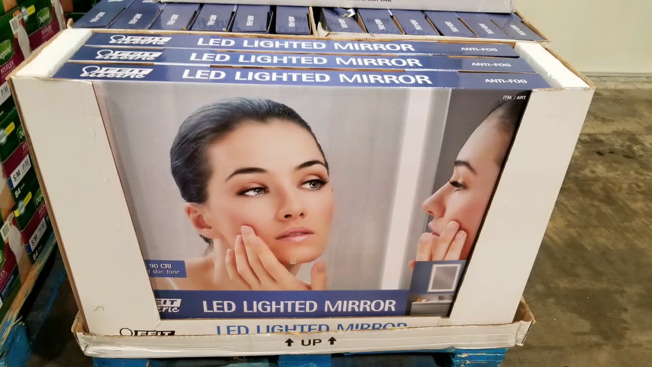 Costco Feit Led Lighted Mirror 24x36 99 Youtube