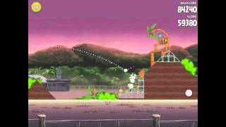 angry birds rio level 14 9 14 airfield chase 3 star walkthrough