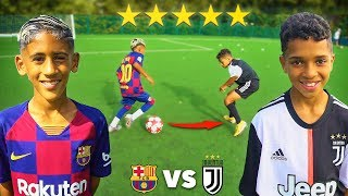 8 YEAR OLD KID MESSI vs 10 YEAR OLD KID RONALDO.. AMAZING Football Competition