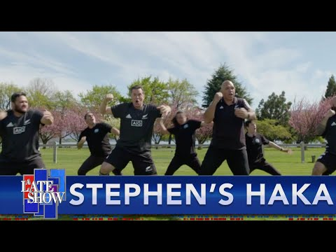 Stephen Learns To Perform A Traditional Maori Haka With The New Zealand All Blacks